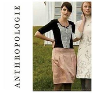 Anthropologie Elevenses Harborless Coast Dot Skirt